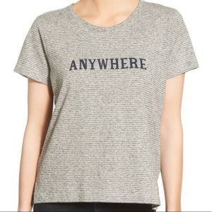 """MADEWELL """"anywhere"""" gray striped T-shirt XS"""